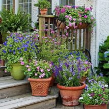 DIY Flower Garden Ideas 9 214x214 - 35+ Easy DIY Flower Garden Ideas