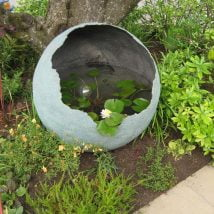 DIY Garden Globes 1 214x214 - 30+ Super Interesting DIY Garden Globes Ideas