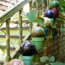 DIY Garden Globes 5 214x214 - 30+ Super Interesting DIY Garden Globes Ideas