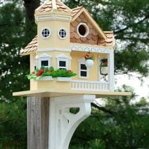 Diy Bird Houses 14 214x214 - 25+ DIY Decorative Bird House