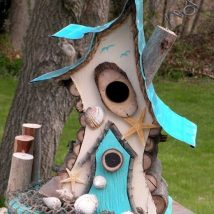 Diy Bird Houses 15 214x214 - 25+ DIY Decorative Bird House