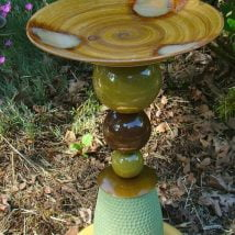 Diy Birdbath Projects 1 214x214 - 30+ Cute DIY Bird Bath Ideas To Enhance Your Garden