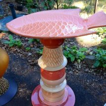 Diy Birdbath Projects 10 214x214 - 30+ Cute DIY Bird Bath Ideas To Enhance Your Garden