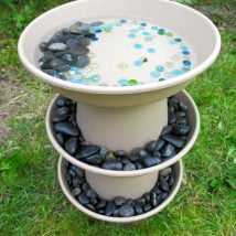 Diy Birdbath Projects 14 214x214 - 30+ Cute DIY Bird Bath Ideas To Enhance Your Garden