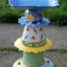 Diy Birdbath Projects 15 214x214 - 30+ Cute DIY Bird Bath Ideas To Enhance Your Garden