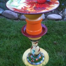 Diy Birdbath Projects 18 214x214 - 30+ Cute DIY Bird Bath Ideas To Enhance Your Garden