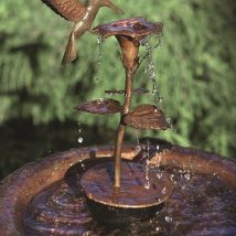 Diy Birdbath Projects 21 214x214 - 30+ Cute DIY Bird Bath Ideas To Enhance Your Garden