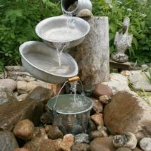 Diy Birdbath Projects 22 214x214 - 30+ Cute DIY Bird Bath Ideas To Enhance Your Garden