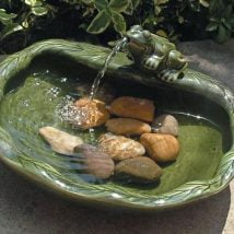 Diy Birdbath Projects 26 214x214 - 30+ Cute DIY Bird Bath Ideas To Enhance Your Garden