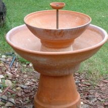 Diy Birdbath Projects 27 214x214 - 30+ Cute DIY Bird Bath Ideas To Enhance Your Garden