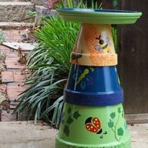 Diy Birdbath Projects 28 214x214 - 30+ Cute DIY Bird Bath Ideas To Enhance Your Garden