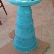 Diy Birdbath Projects 31 214x214 - 30+ Cute DIY Bird Bath Ideas To Enhance Your Garden