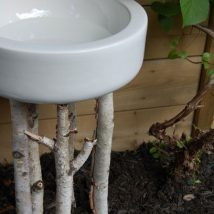 Diy Birdbath Projects 32 214x214 - 30+ Cute DIY Bird Bath Ideas To Enhance Your Garden