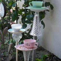 Diy Birdbath Projects 5 214x214 - 30+ Cute DIY Bird Bath Ideas To Enhance Your Garden
