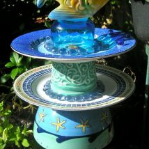 Diy Birdbath Projects 8 214x214 - 30+ Cute DIY Bird Bath Ideas To Enhance Your Garden