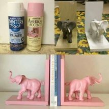 Diy Bookend Ideas 24 214x214 - 30+ Decorative DIY Bookends To Spruce Up Your Shelves