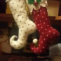 Diy Christmas Stockings 1 214x214 - 33+ DIY Christmas Stockings Ideas For Everyone In The Family