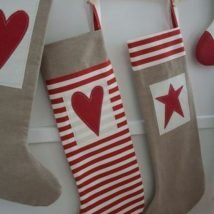Diy Christmas Stockings 11 214x214 - 33+ DIY Christmas Stockings Ideas For Everyone In The Family