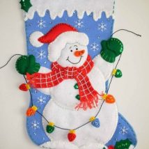 Diy Christmas Stockings 13 214x214 - 33+ DIY Christmas Stockings Ideas For Everyone In The Family