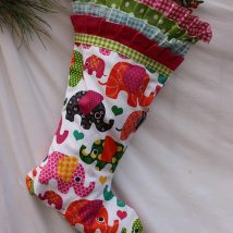 Diy Christmas Stockings 16 214x214 - 33+ DIY Christmas Stockings Ideas For Everyone In The Family