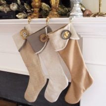 Diy Christmas Stockings 17 214x214 - 33+ DIY Christmas Stockings Ideas For Everyone In The Family