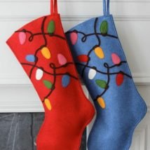 Diy Christmas Stockings 2 214x214 - 33+ DIY Christmas Stockings Ideas For Everyone In The Family