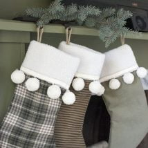 Diy Christmas Stockings 20 214x214 - 33+ DIY Christmas Stockings Ideas For Everyone In The Family