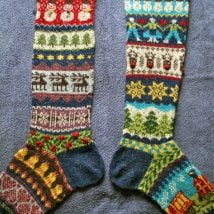 Diy Christmas Stockings 23 214x214 - 33+ DIY Christmas Stockings Ideas For Everyone In The Family