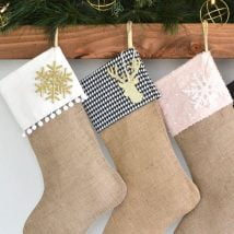 Diy Christmas Stockings 25 214x214 - 33+ DIY Christmas Stockings Ideas For Everyone In The Family