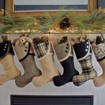 Diy Christmas Stockings 27 214x214 - 33+ DIY Christmas Stockings Ideas For Everyone In The Family