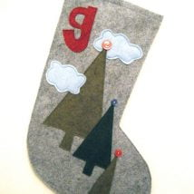 Diy Christmas Stockings 28 214x214 - 33+ DIY Christmas Stockings Ideas For Everyone In The Family