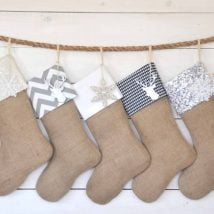 Diy Christmas Stockings 29 214x214 - 33+ DIY Christmas Stockings Ideas For Everyone In The Family