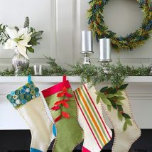 Diy Christmas Stockings 4 214x214 - 33+ DIY Christmas Stockings Ideas For Everyone In The Family