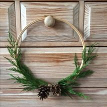 Diy Christmas Wraths 12 214x214 - 35+ Gorgeous DIY Christmas Wreath Ideas to Decorate Your Holiday Season