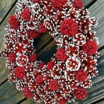 Diy Christmas Wraths 9 214x214 - 35+ Gorgeous DIY Christmas Wreath Ideas to Decorate Your Holiday Season