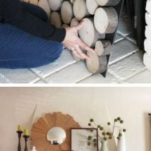 Diy Fireplace Designs 1 214x214 - 25+ Beautiful DIY Ideas For Your Fireplace