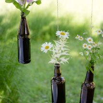 diy flower vases 13 214x214 - 30+ Chic DIY Vases As Pretty As The Flowers Themselves