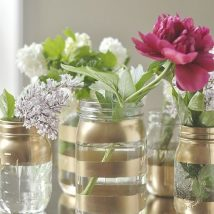 diy flower vases 14 214x214 - 30+ Chic DIY Vases As Pretty As The Flowers Themselves