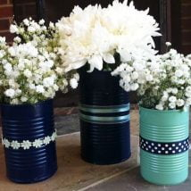 diy flower vases 20 214x214 - 30+ Chic DIY Vases As Pretty As The Flowers Themselves