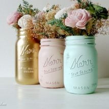 diy flower vases 32 214x214 - 30+ Chic DIY Vases As Pretty As The Flowers Themselves