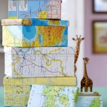 DIY Map Crafts 5 214x214 - Unique DIY Map Crafts Ideas