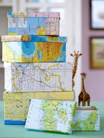 DIY Map Crafts 5 - Unique DIY Map Crafts Ideas