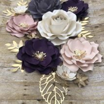 DIY Paper Flowers 1 214x214 - Six Petal DIY Paper Flowers