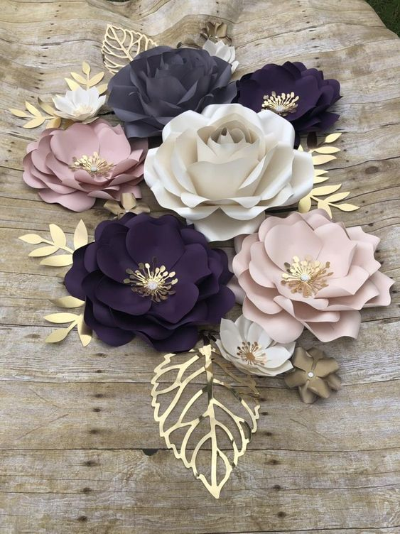 DIY Paper Flowers 1 - Six Petal DIY Paper Flowers