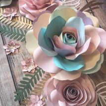DIY Paper Flowers 4 214x214 - Six Petal DIY Paper Flowers