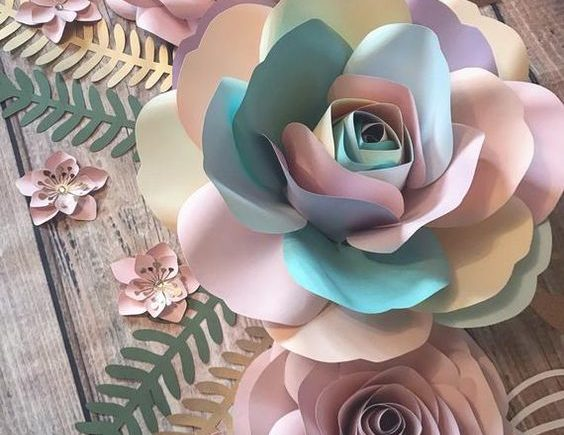 DIY Paper Flowers 4 564x435 - How to create six petal DIY Paper Flowers?