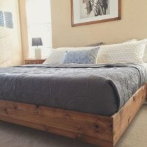 DIY Platform Beds Ideas 214x214 - DIY Platform Beds